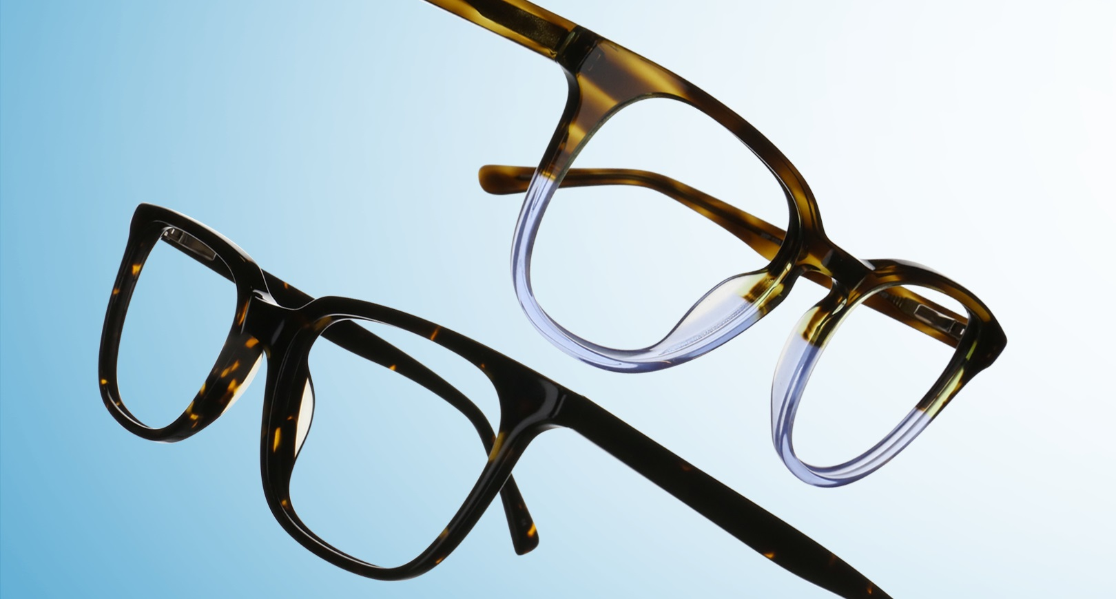 Women's and men's pair of glasses