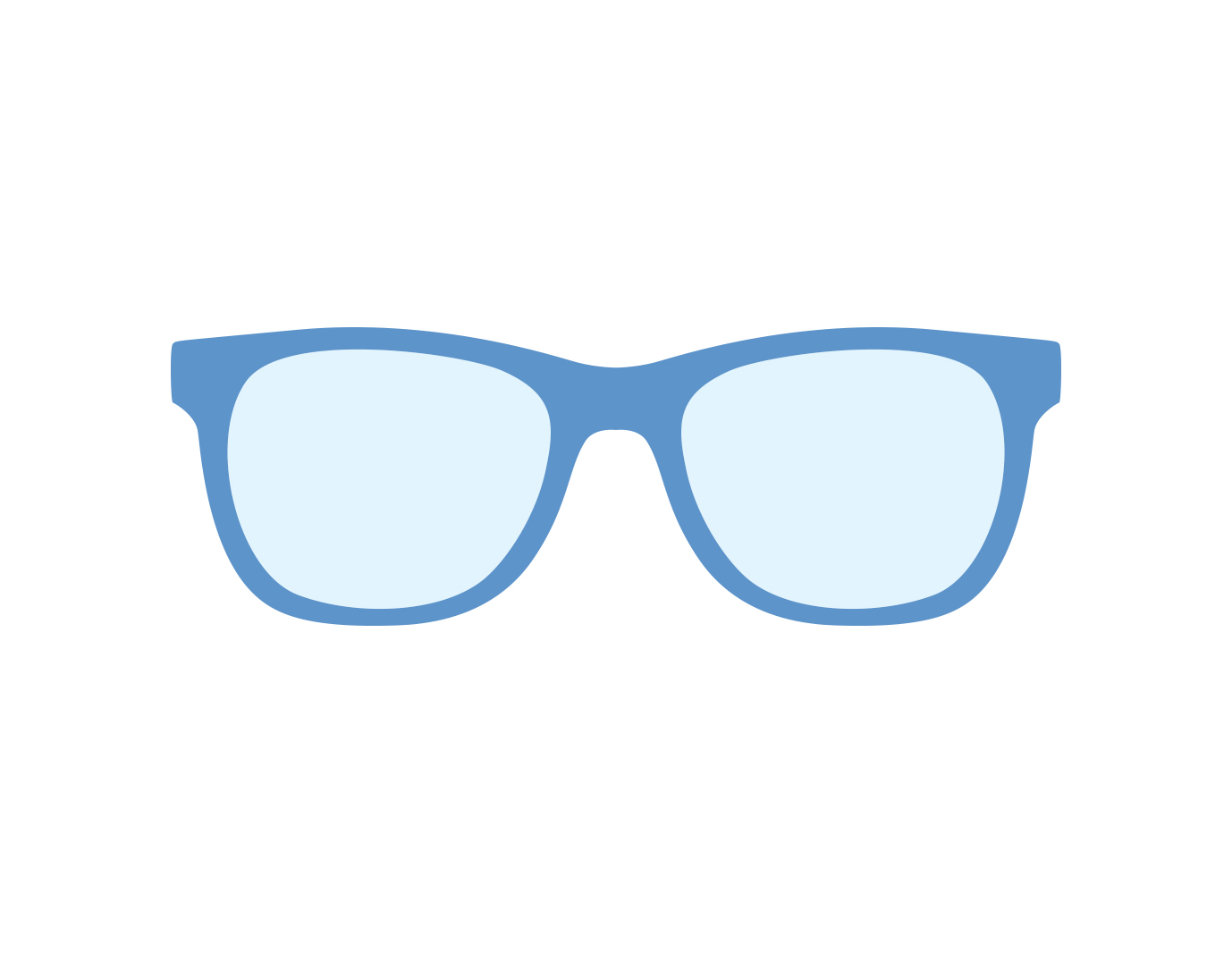 Icon of glasses with basic plastic lenses
