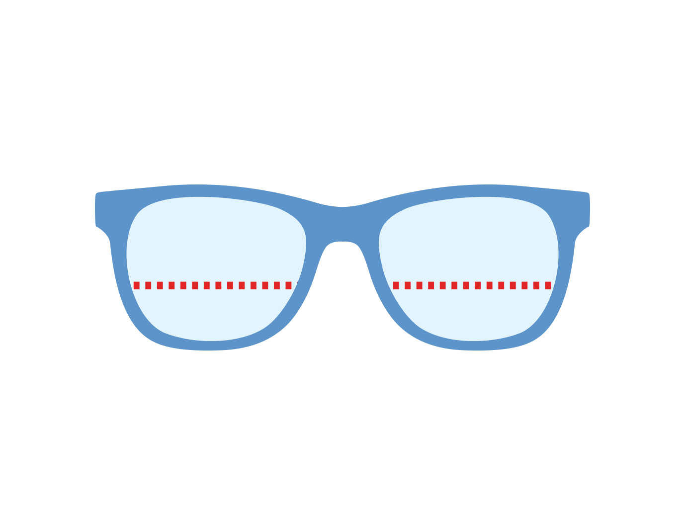 Icon of glasses with bifocal lenses