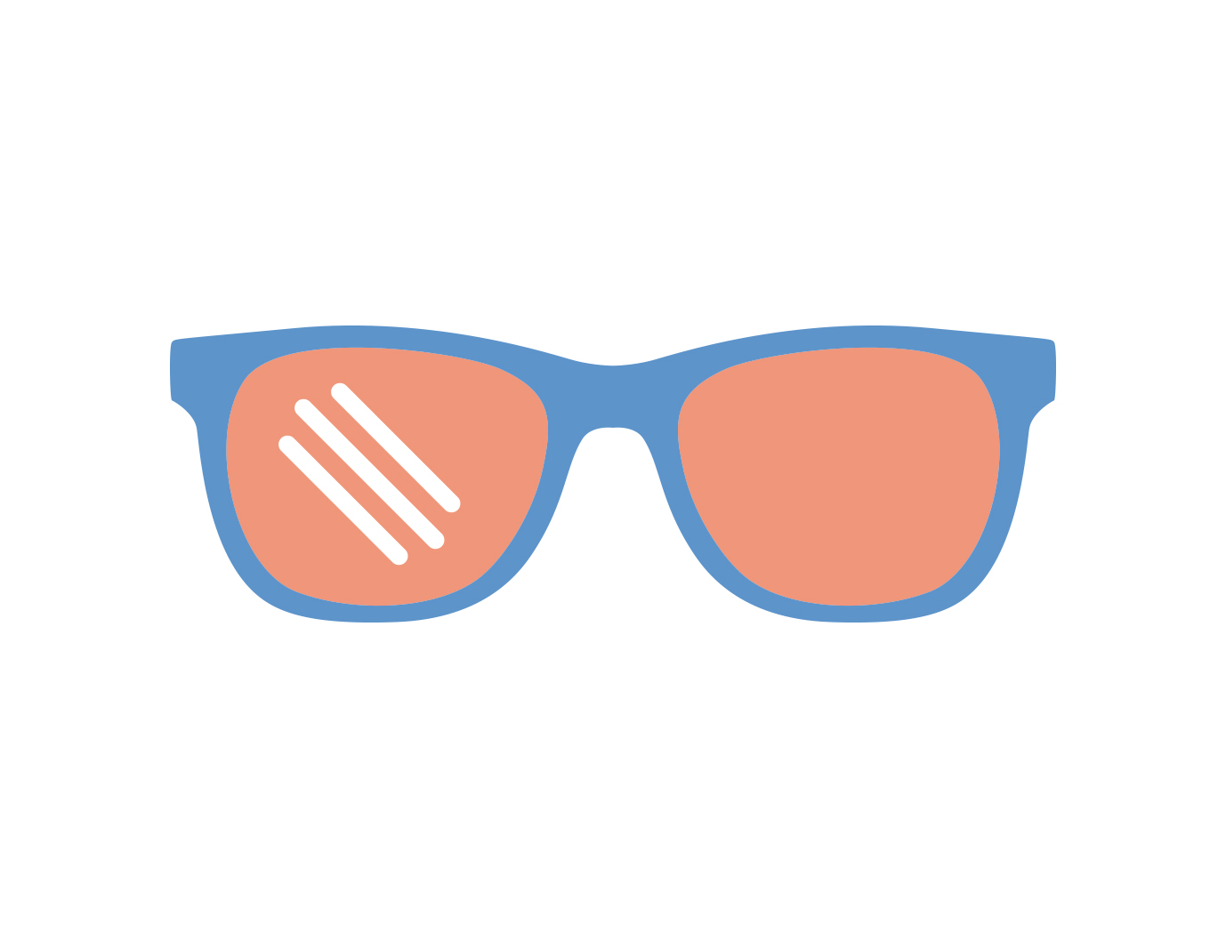 Icon of glasses with Polarized lenses