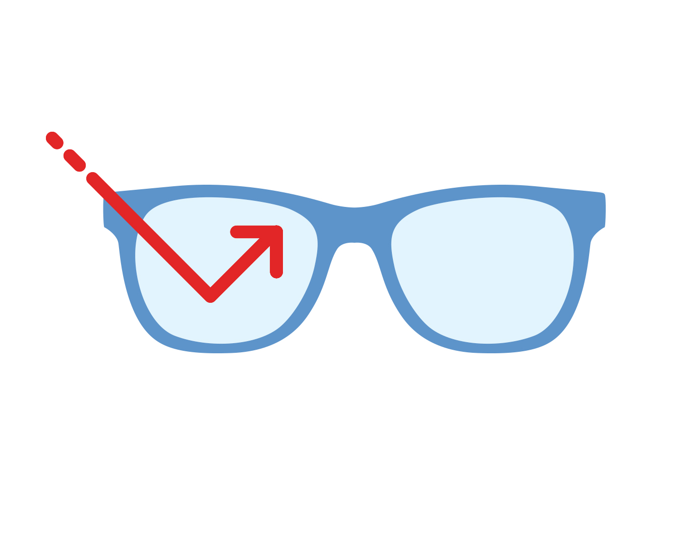Icon of glasses with Tech Defense™ Blue Light lenses