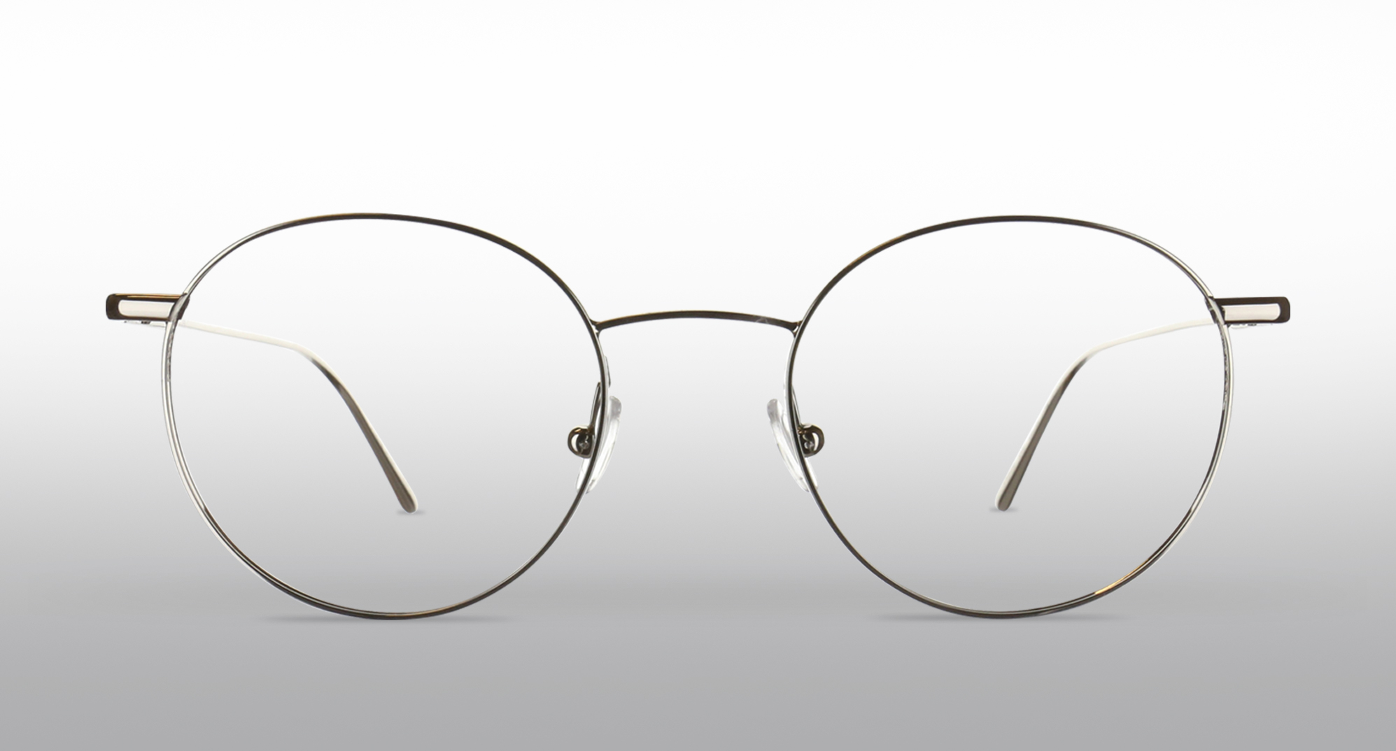 Pair of round metal glasses